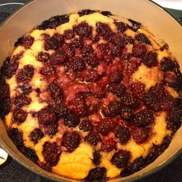 Dutch Oven Blackberry Cobbler